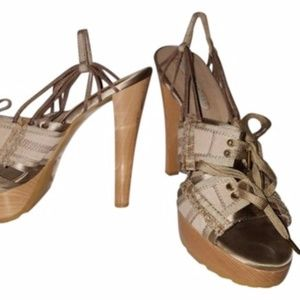 Stella McCartney nude heels satin pink 8.5